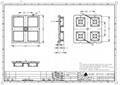 ALHB50D4LED3535T10G 2x2 lens narrow beam 10 degree 3535 LED 2