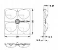 ALST50D4LED5050T3M 2x2 lens IESNA Type III (medium) beam for roads  3