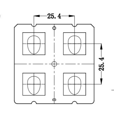 ALST50D4LED5050T3M 2x2 lens IESNA Type III (medium) beam for roads  4