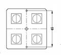 Optical Lens Manufacturer Optical PC lens T5 TYPEV LED Lens ALST50D4LEDT5R 2