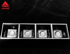 1X4 linear lens  designed with the optical grill ASL160D40H4LED50G