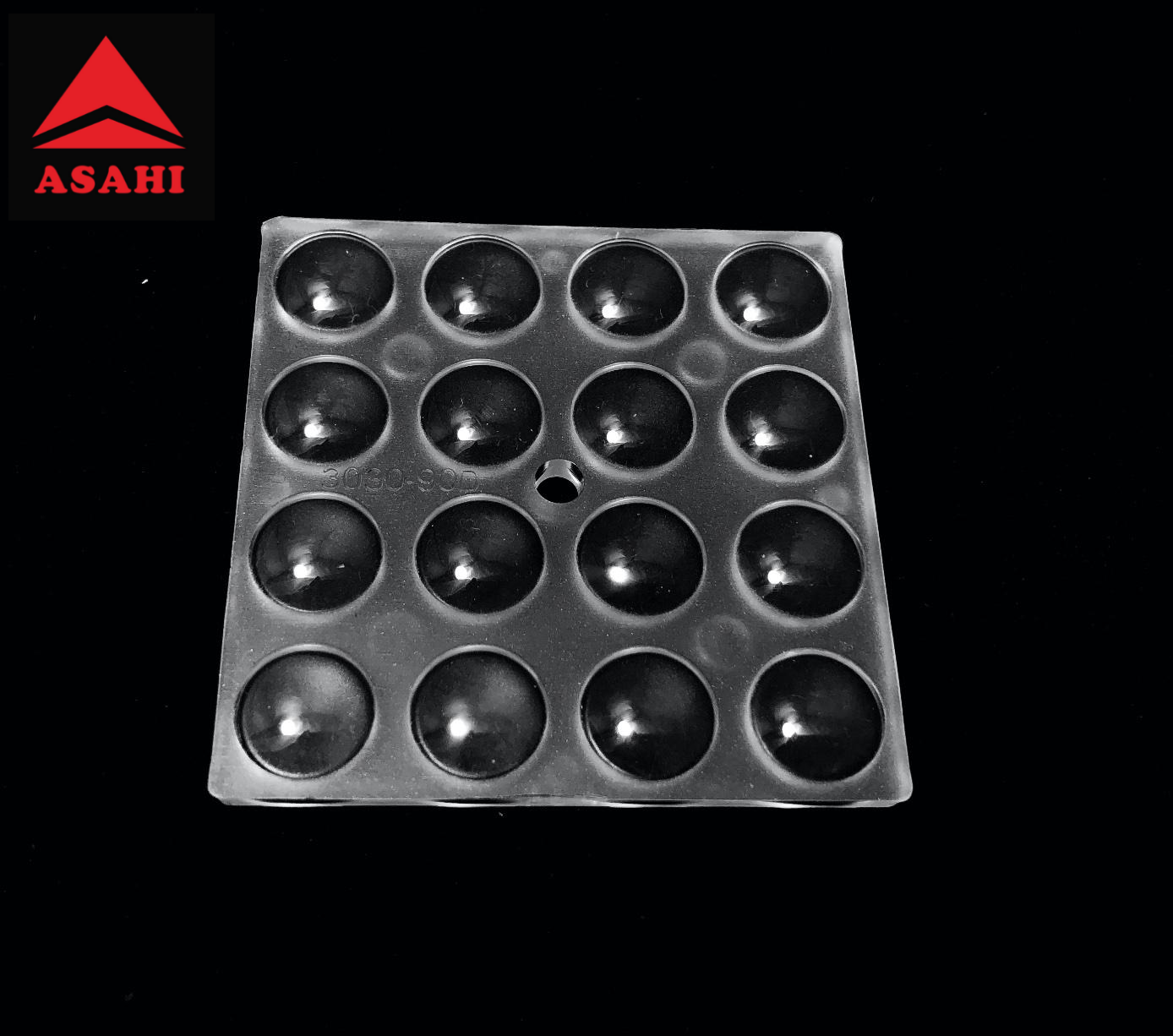 16LEDs optical lens for 3030LED beam 90 degree produce great optical performance 1