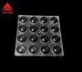 16LEDs optical lens for 3030LED beam 90