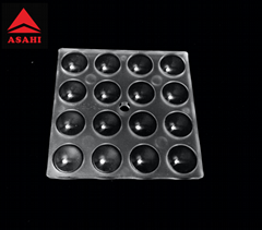 16LEDs optical lens for 3030LED beam 90 degree produce great optical performance