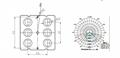 Street lighting 2X3 lens 6LEDs 5050T2M faster installations ARST50D6LED5050T2M 4