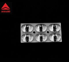 ARST62D6LED5050T2M-cutoff 2x3 lens optimized in size 30x62mm for Street Light