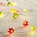 10ft 40LED Maple Leaf Fairy Light Si  er