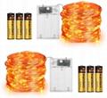 Orange Lights for Halloween 16.4ft Battery Operated Fairy String Lights - 50 LED