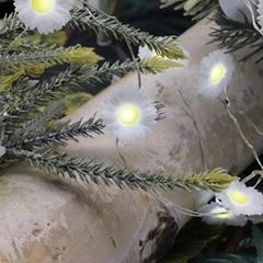 Sunflower Easter Daisy String Lights 10 ft 40 LEDs
