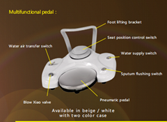 Multifunctional pedal Available in beige or white with two color case