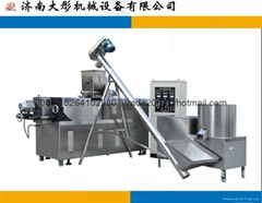 Puffed corn snacks food extruder machine line