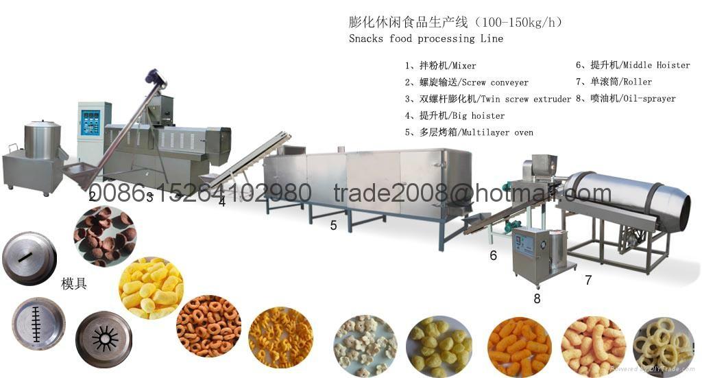 Snacks food extruder plant 3