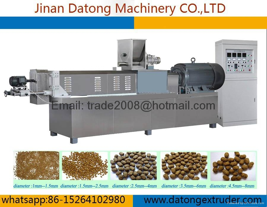 Floating Fish feed pellet extruder machine 2