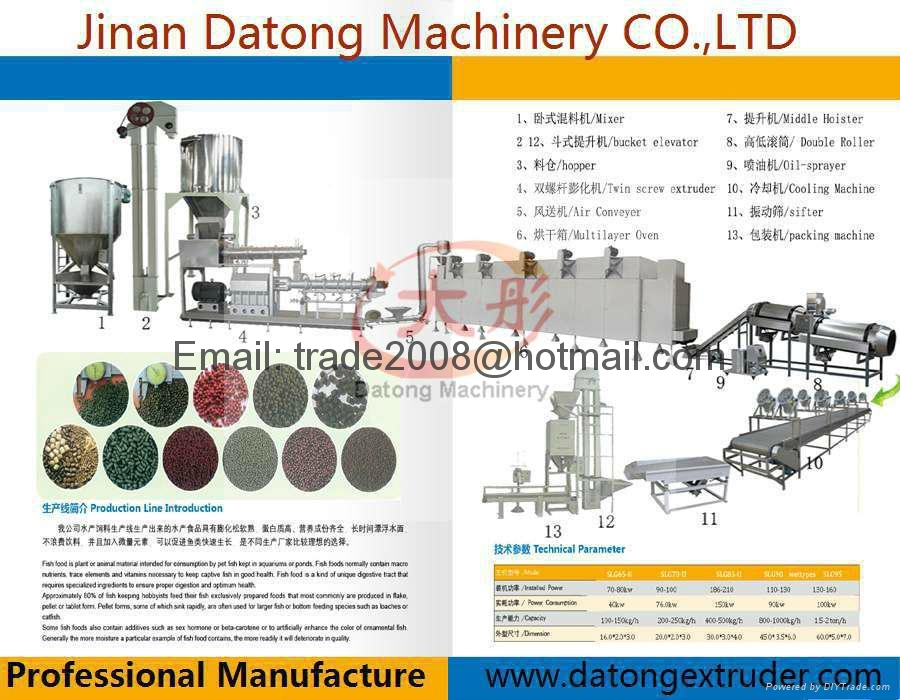 Floating Tilapia feed making machine 7