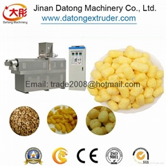 Puffed Corn curls food extruder