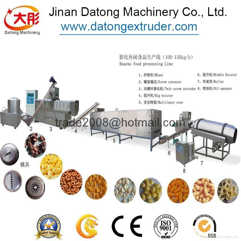 膨化玉米棒設備 玉米膨化食品機械_膨化食品生產線 4