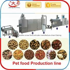 Dog food extruder machin
