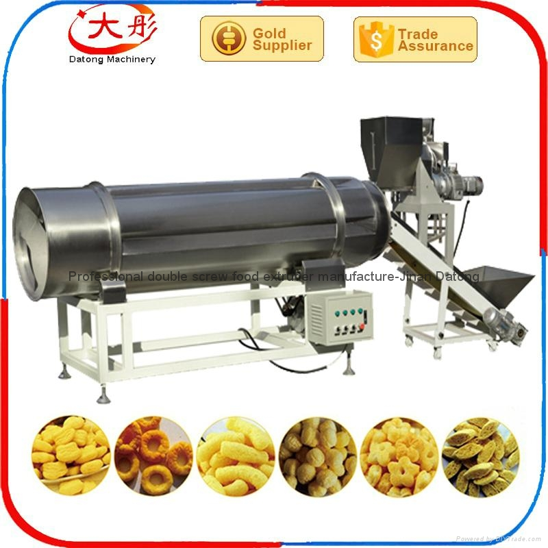 Puffed corn Snacks food making  line machine 12