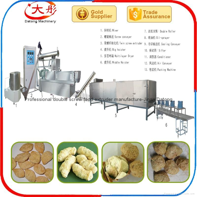 Automatic textured industrial Soya meat machine 8