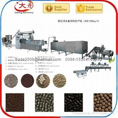 Fish feed pelleting extruder