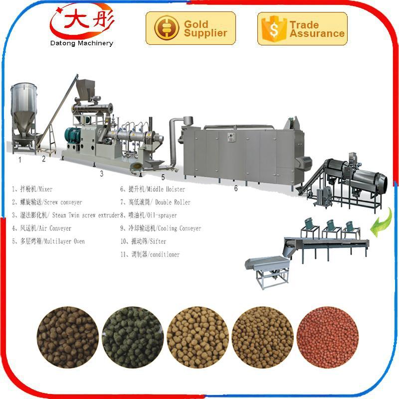 pet Dog cat feed pellet processing making extruder machine plant equipment 2