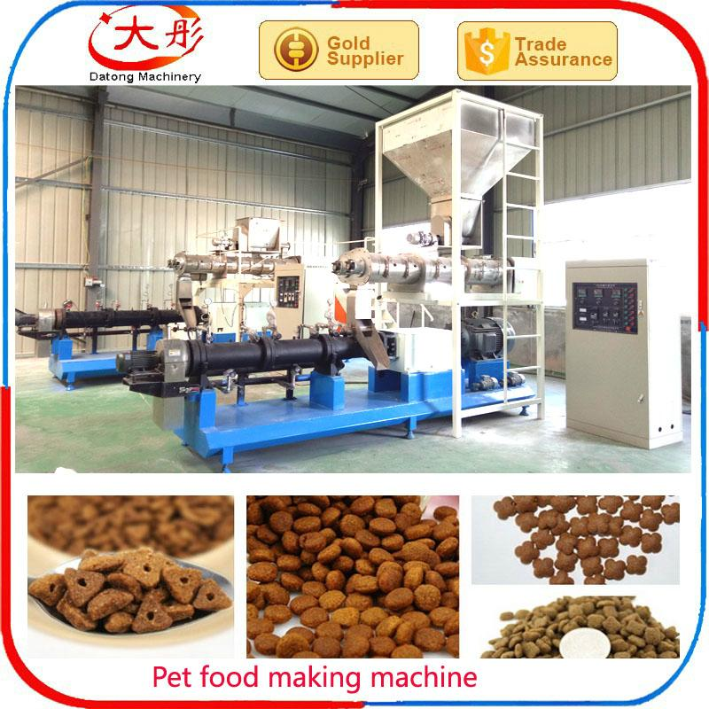 pet Dog cat feed pellet processing making extruder machine plant equipment 4