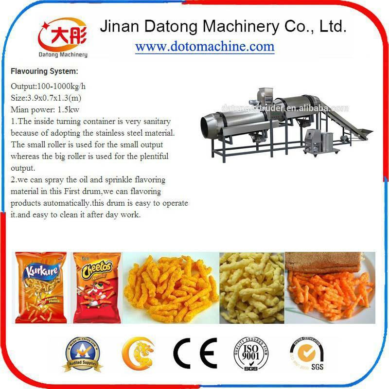 Niknaks/cheese curls food machinery/Crunchy niknaks/cheetos making machine 4