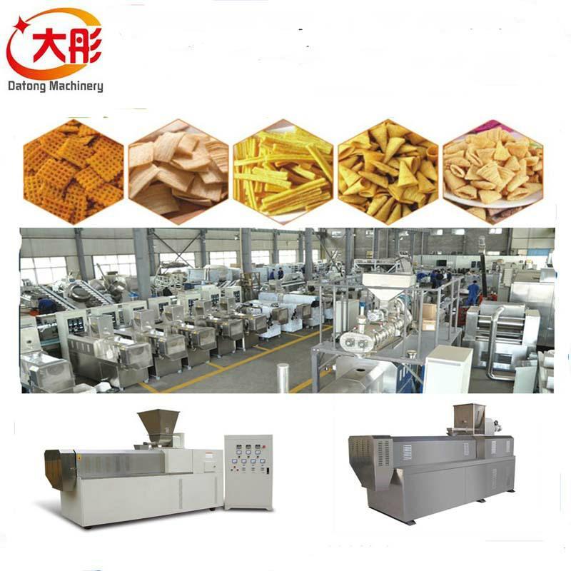 Bugles crispy food processing machine /Bugles food snacks machine /Fried Flour 2