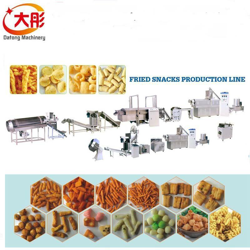 妙脆角,小鱼,鸭子油炸膨化食品生产线 4
