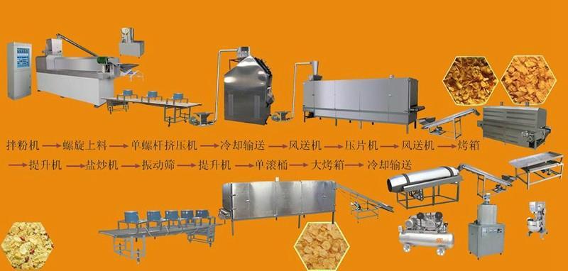 早餐谷物玉米片加工设备 4