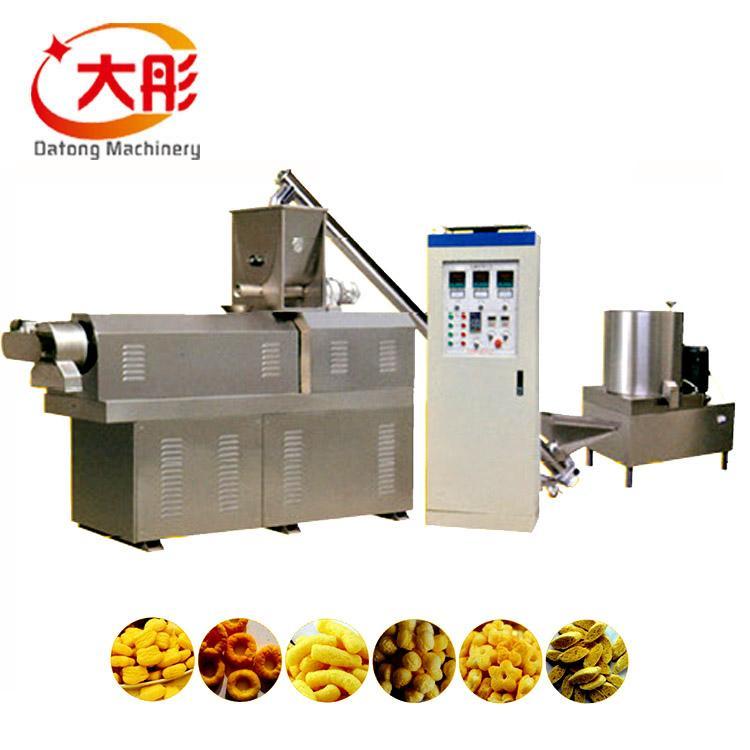 Puffed corn snacks food extruder machine line