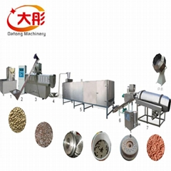 Floating fish food pellet production
