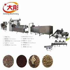 floating  fish feed food making extruder  pellet processing machine cost price
