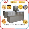 twin screw extruder prices corn chips food making puff snack foodpellet machine