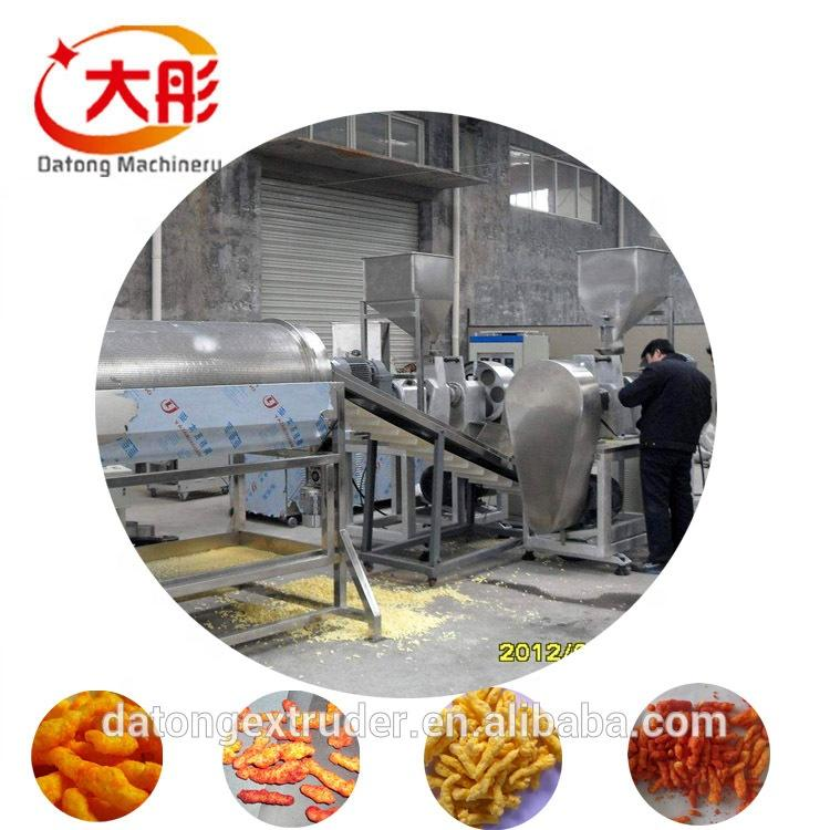 Automatic kurkure production line cheetos extruder making machine food machine 4