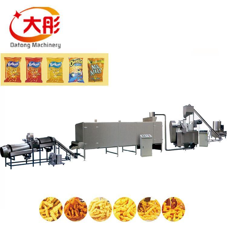 Niknaks/cheese curls food machinery/Crunchy niknaks/cheetos making machine