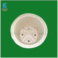 Wholesale biodegradable waste pulp mould flower pot