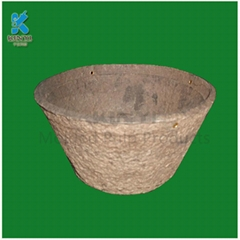 Custom Eco-friendly molded paper pulp flower pot seed tray