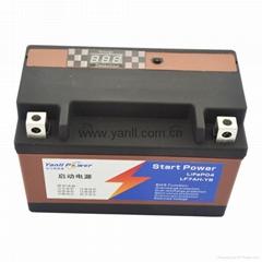 磷酸铁锂摩托车启动电池12.8V 260A摩托车启动电瓶
