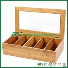 Bamboo Tea Bin,Bamboo Tea Box,Bamboo Storage Orgenizer