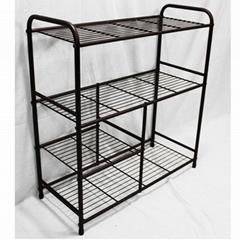 metal shoe rack iron shelf manufacturer