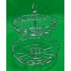 2tier iron fruit basket