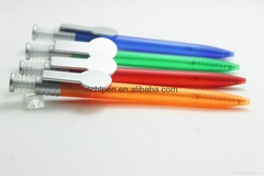 New Style  Spring click Promotional Plastic Ballpoint pen with customized logo