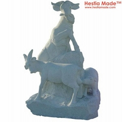 Granite Animal Carvings Goat Sculpture
