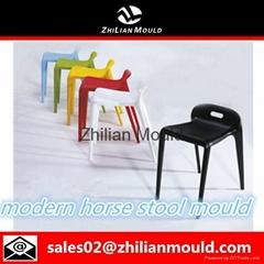 Taizhou fashionable horse  plastic injection stool mould