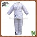 Cheap Light weight twill fabric karate uniforms for women  1