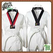 Hotsale martial arts wear ribbed fabric WTF Taekwondo Uniforms