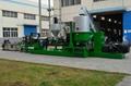 Plastic recycling machine and granulator