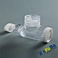 Double Cap Of Small Plastic Medicine Bottle 015