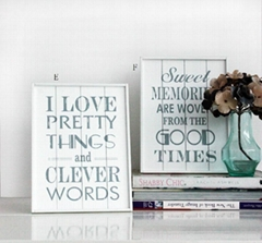 wooden printed wall decorative plaque